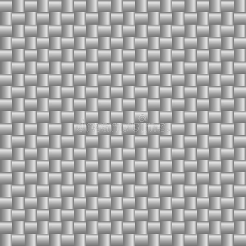 Fond carr? abstrait avec le gradient noir et blanc m?tallique illustration stock