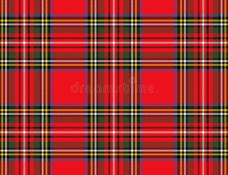 Fond ? carreaux sans couture de mod?le de tartan de plaid Conception d'illustration image stock