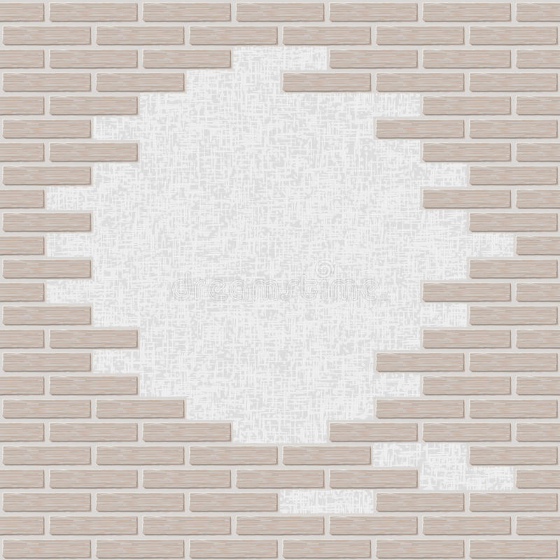 Fond cassé de mur de briques illustration stock