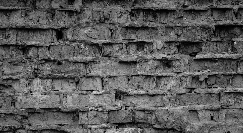 Fond cassé de mur de briques photos libres de droits