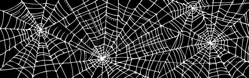 Fond CCCIII de Web de Halloween illustration libre de droits