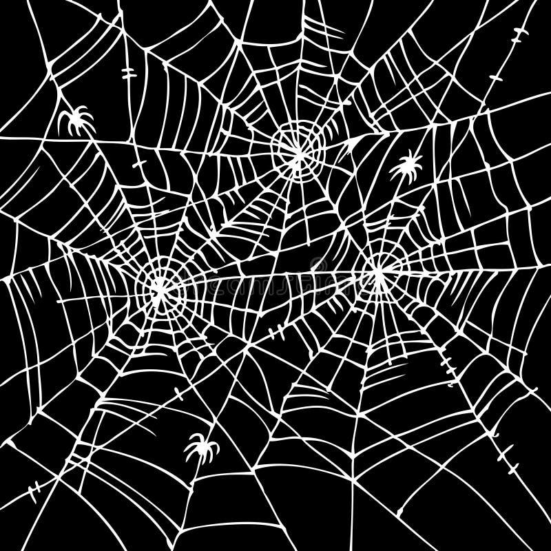 Fond CCCVI de Web de Halloween illustration libre de droits