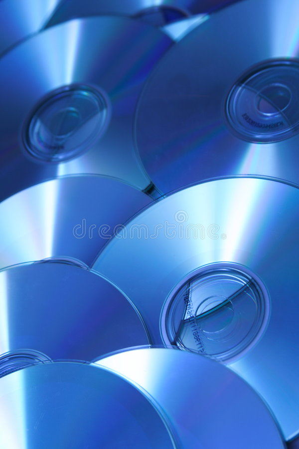 Fond CD bleu photos stock