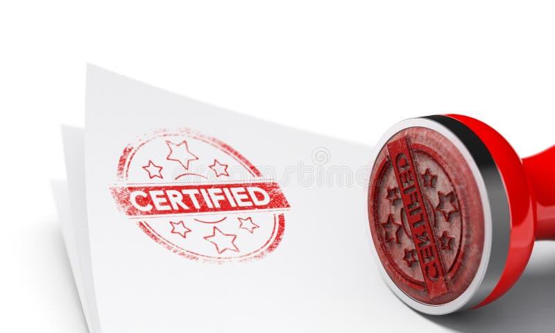 Fond certifié illustration libre de droits