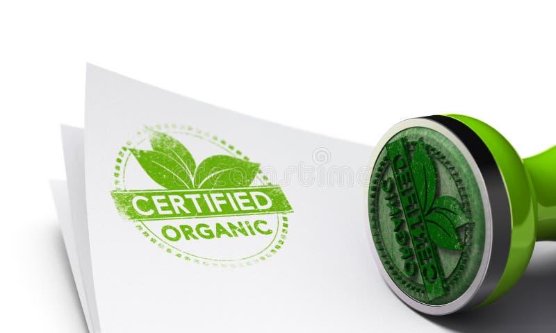 Fond certifié organique illustration stock