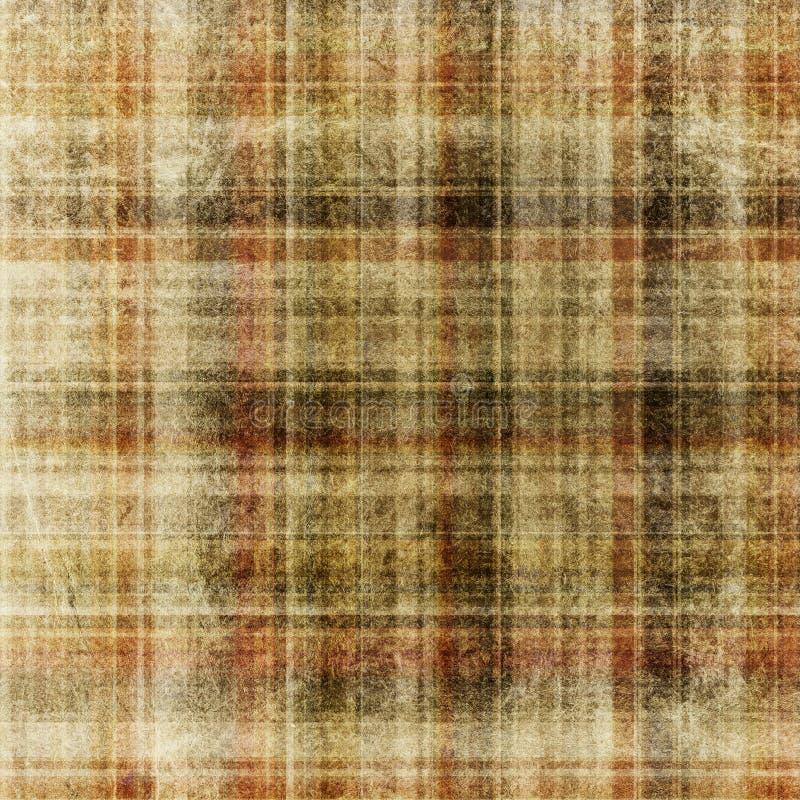 Fond checkered âgé. illustration libre de droits