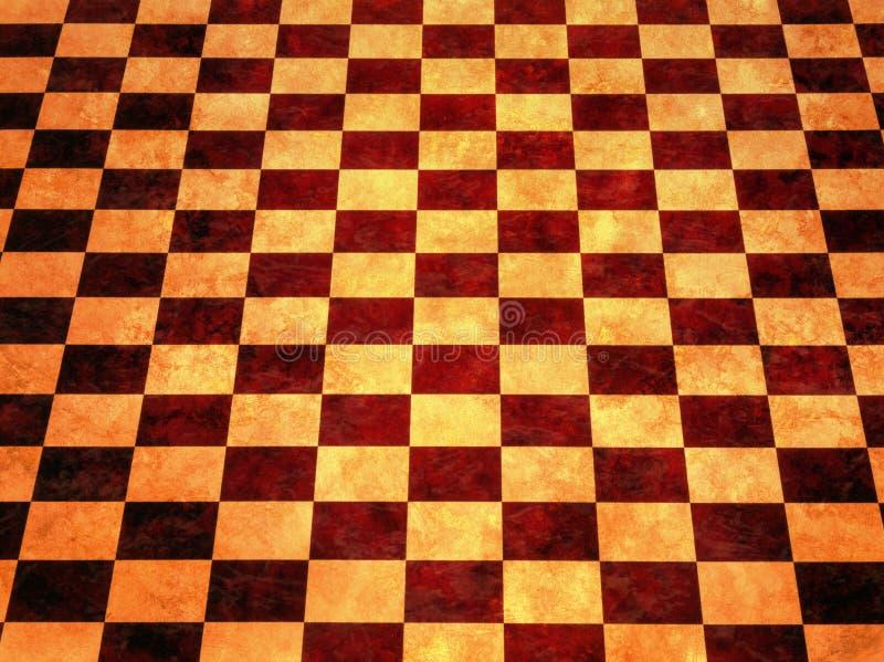 Fond Checkered chaud photographie stock