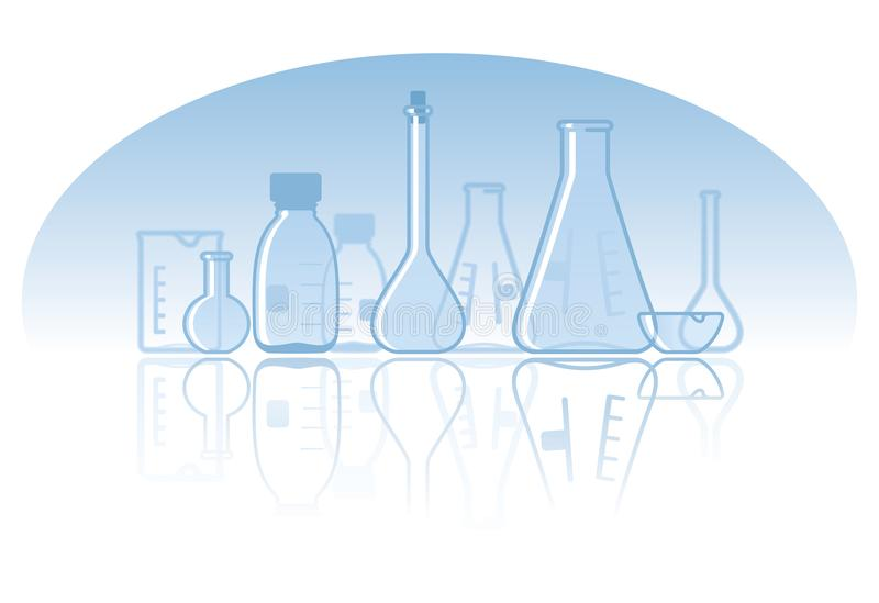Fond chimique de laboratoire illustration stock