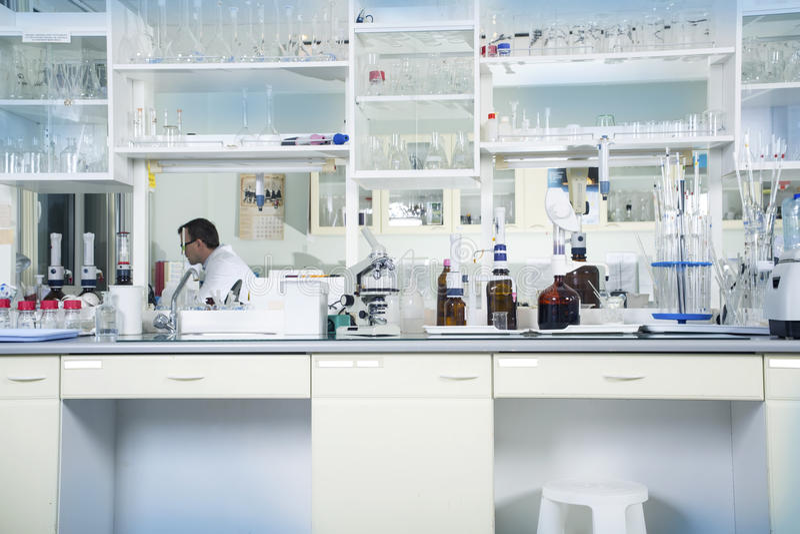 Fond chimique de laboratoire images stock