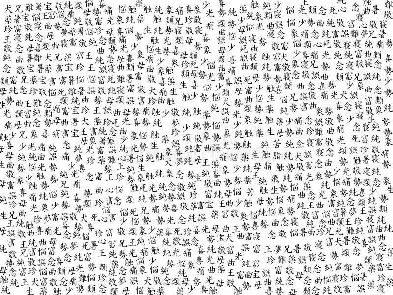 Fond chinois de calligraphie image stock