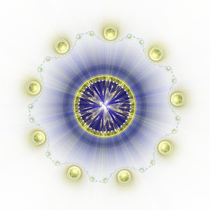 Fond circulaire illustration stock