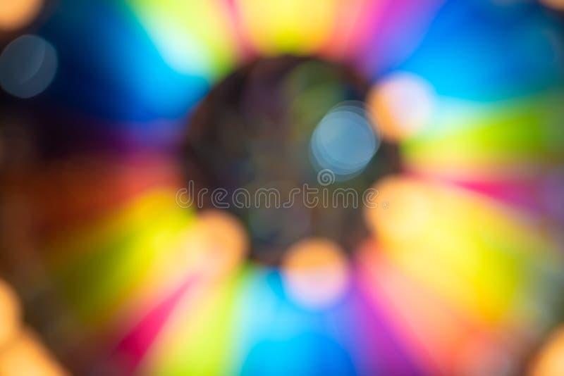 Fond circulaire abstrait d'arc-en-ciel photographie stock