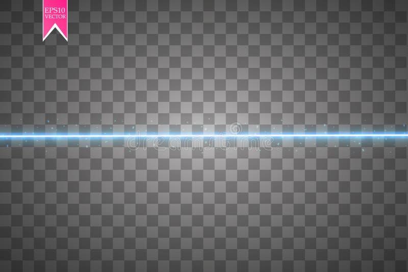 Fond clair étoilé de vecteur Lignes rougeoyantes bleues Effet de mouvement de vitesse Traînée de scintillement d'étincelle illustration libre de droits