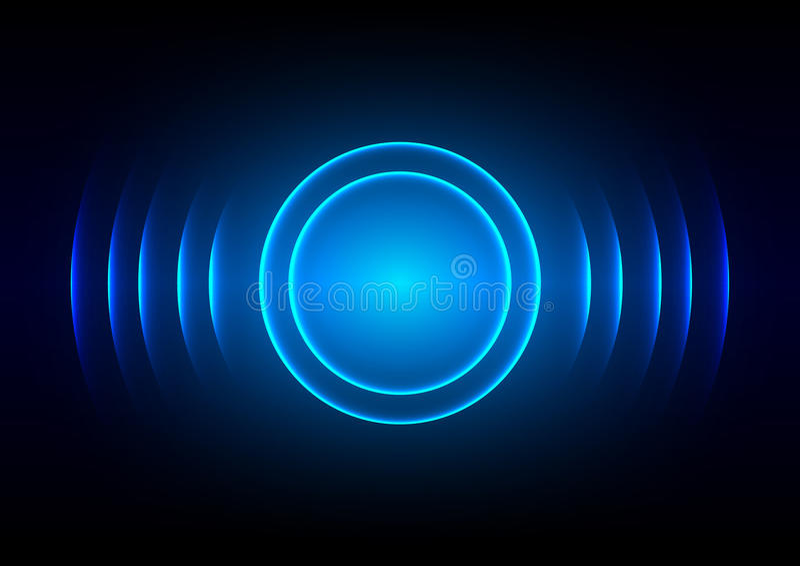 Fond clair bleu numérique abstrait d'onde sonore illustration stock