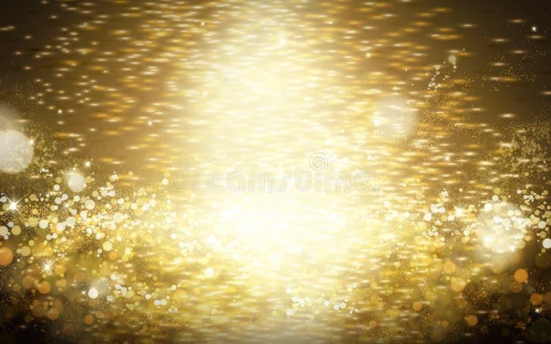 Fond clair d'or de poudre illustration de vecteur
