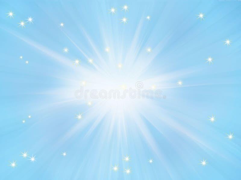 Fond clair de Sun illustration de vecteur