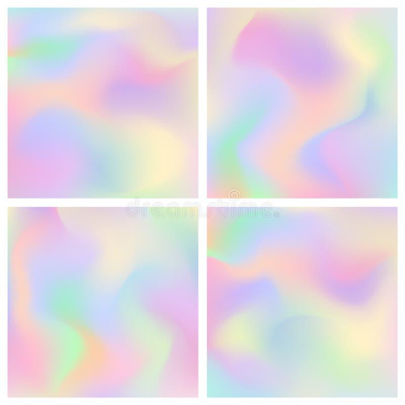 Fond clair en pastel mou d'hologramme abstrait illustration stock
