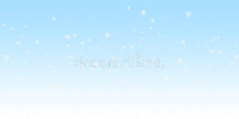 Fond clairsemé de Noël de chutes de neige Flyin subtil illustration stock