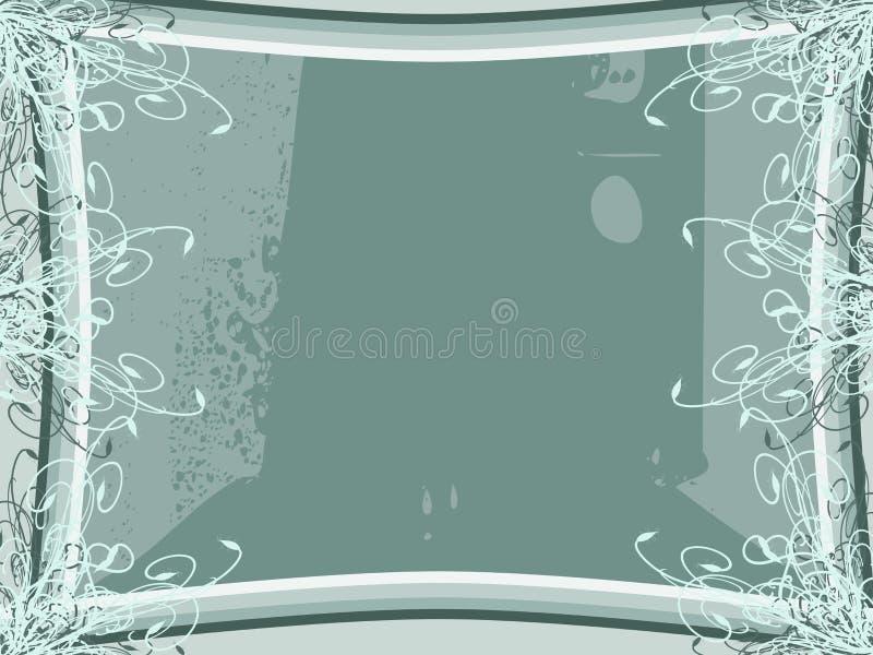 Fond coloré abstrait avec des fleurs illustration stock