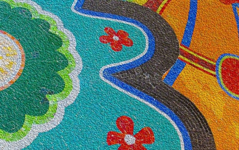 Fond coloré abstrait avec l'effet painterly appliqué images libres de droits