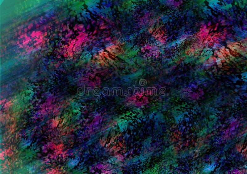 Fond coloré abstrait avec la texture colorée illustration stock