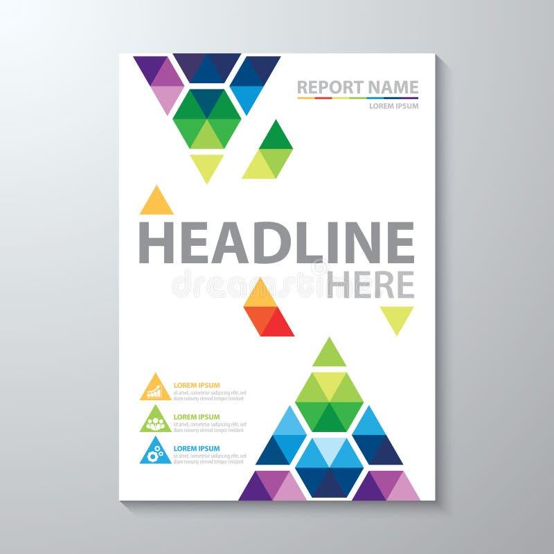 Fond coloré abstrait Calibre de conception de couverture illustration stock