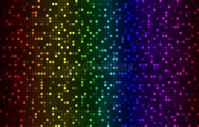 Fond coloré abstrait clair de technologie de pixels illustration libre de droits