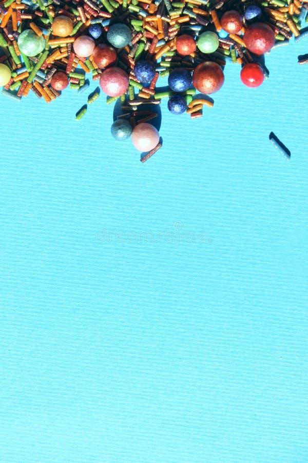 Fond coloré abstrait, couleurs bleues Nourriture, concept de Pâques photos libres de droits