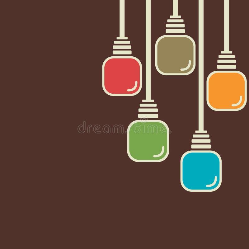 Fond coloré abstrait d'ampoule illustration de vecteur