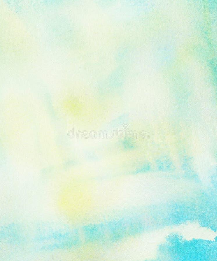 Fond coloré abstrait d'aquarelle. Ressort et illustration de vecteur