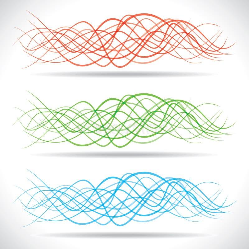 Fond coloré abstrait de drapeau d'onde illustration de vecteur