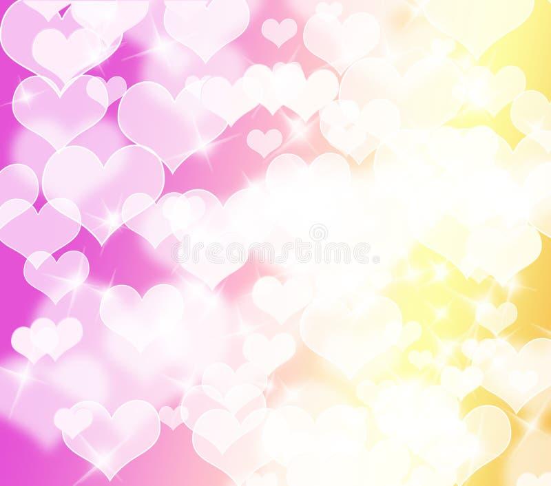 Fond coloré abstrait de forme de coeur illustration libre de droits