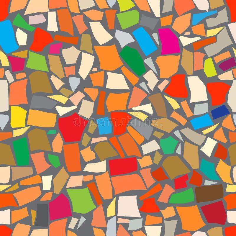Fond coloré abstrait de mosaïque illustration stock