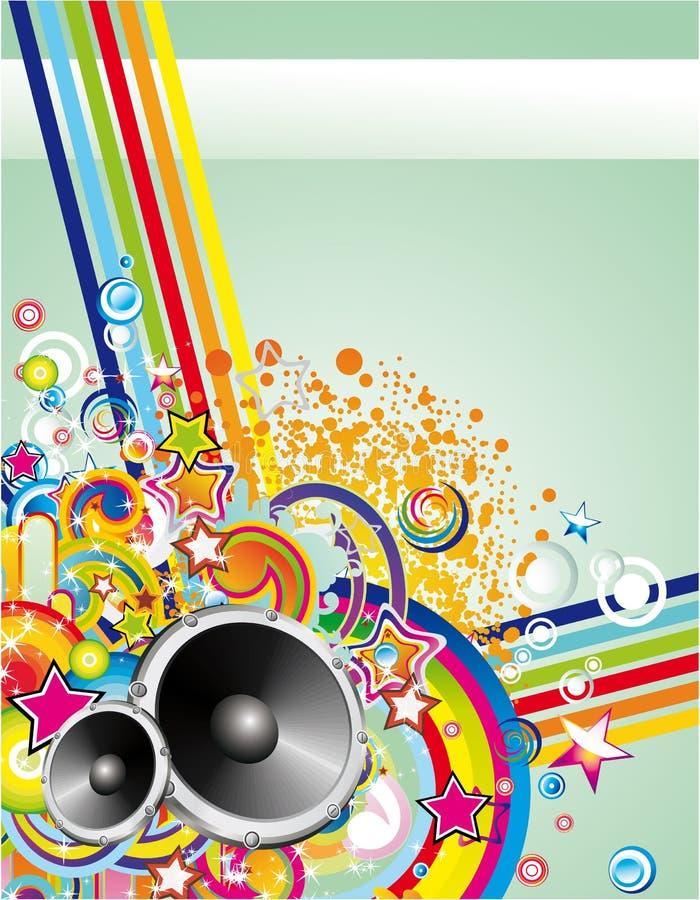 Fond coloré abstrait de musique illustration libre de droits