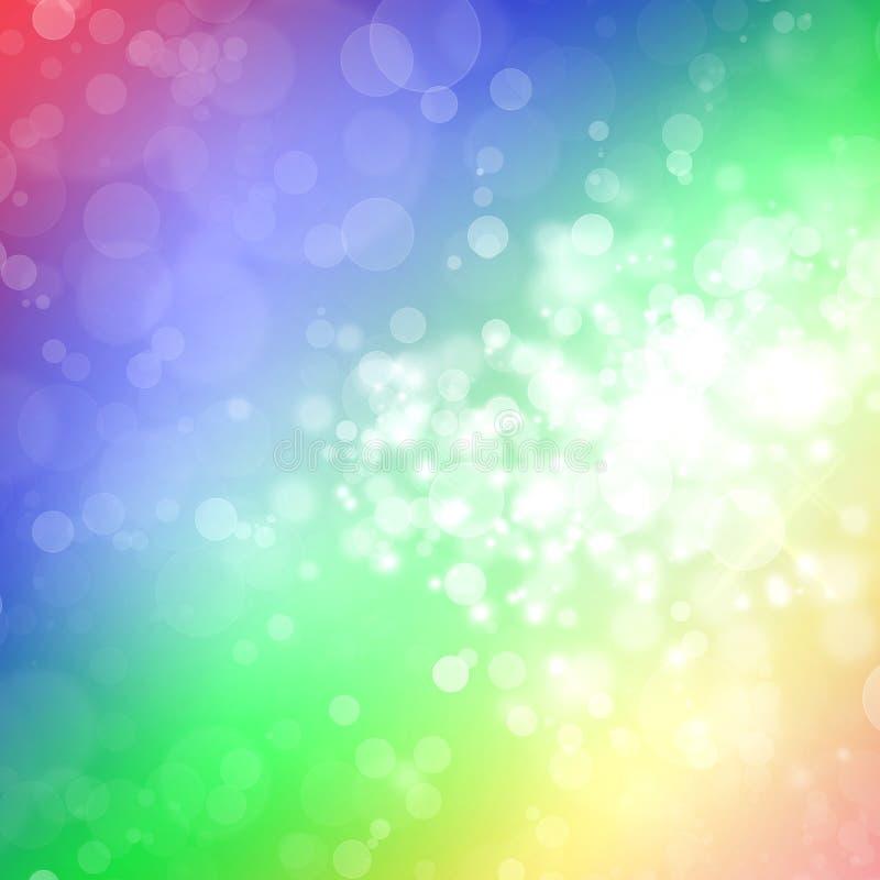 Fond coloré abstrait de ressort illustration libre de droits