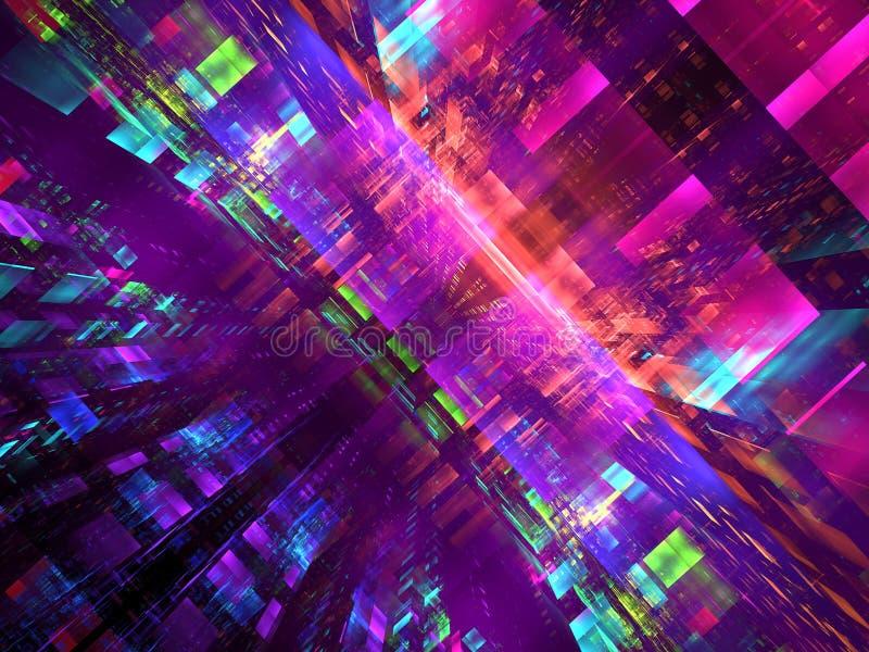Fond coloré abstrait de technologie - image digitalement produite illustration de vecteur