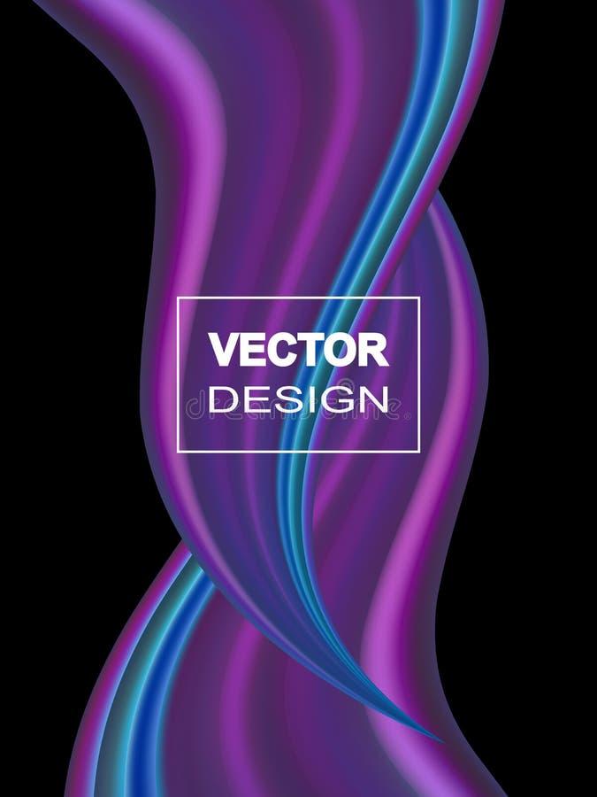 Fond coloré abstrait de vecteur, vague liquide d'écoulement de couleur pour la brochure de conception, site Web, insecte illustration de vecteur