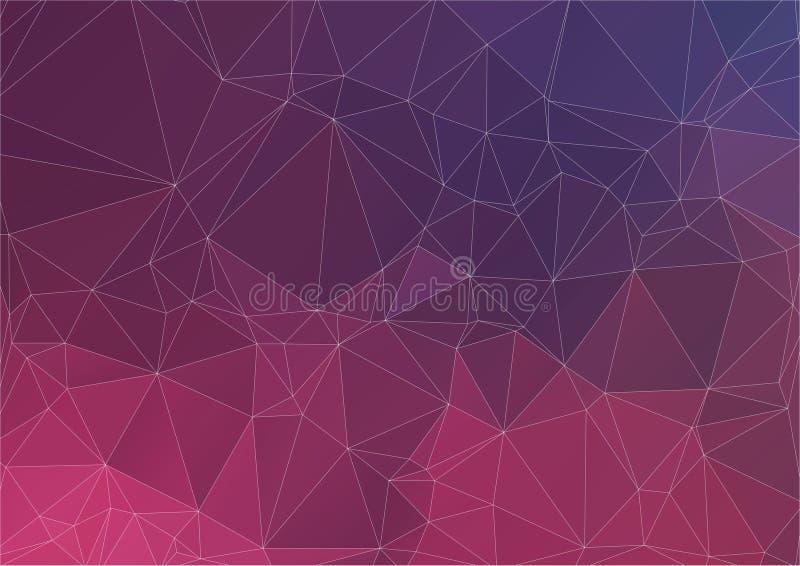 Fond coloré abstrait des triangles illustration de vecteur