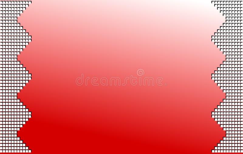 Fond coloré abstrait en rouge avec des places illustration libre de droits