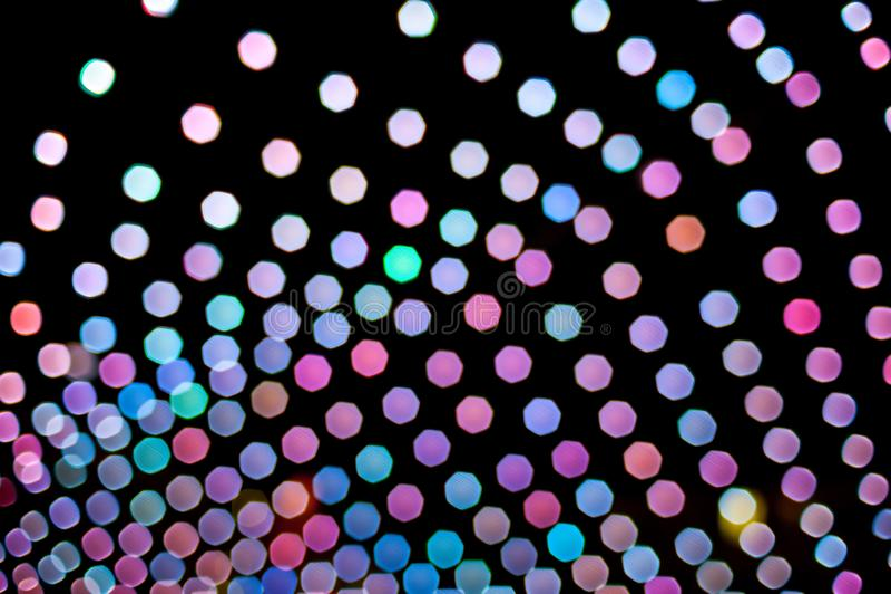 Fond coloré abstrait fait de lumières brouillées illustration de vecteur