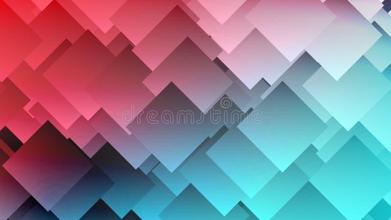 Fond coloré abstrait moderne de gradient avec des losanges, places illustration libre de droits