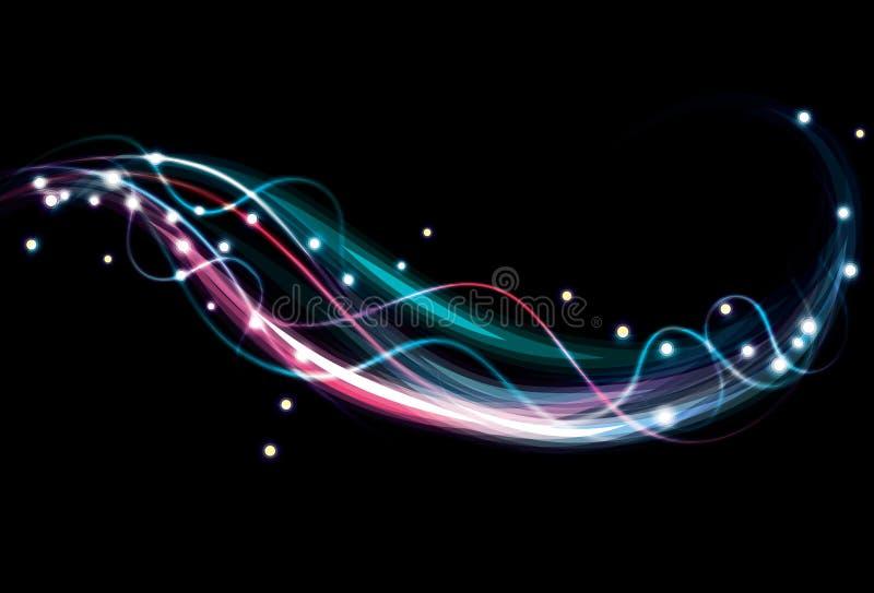 Fond coloré abstrait trouble d'effet de la lumière. illustration stock