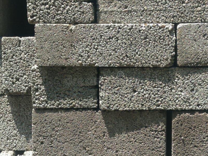 Fond coloré abstrait trouble Tetris des blocs gris de maçonnerie photo stock