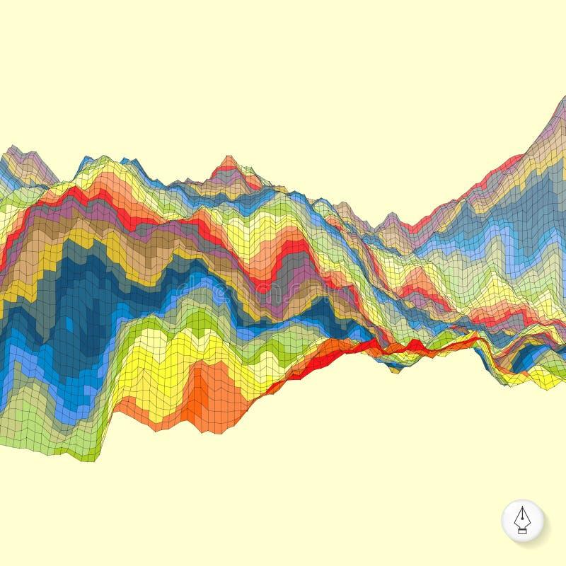 Fond coloré abstrait Vecteur de mosaïque illustration stock
