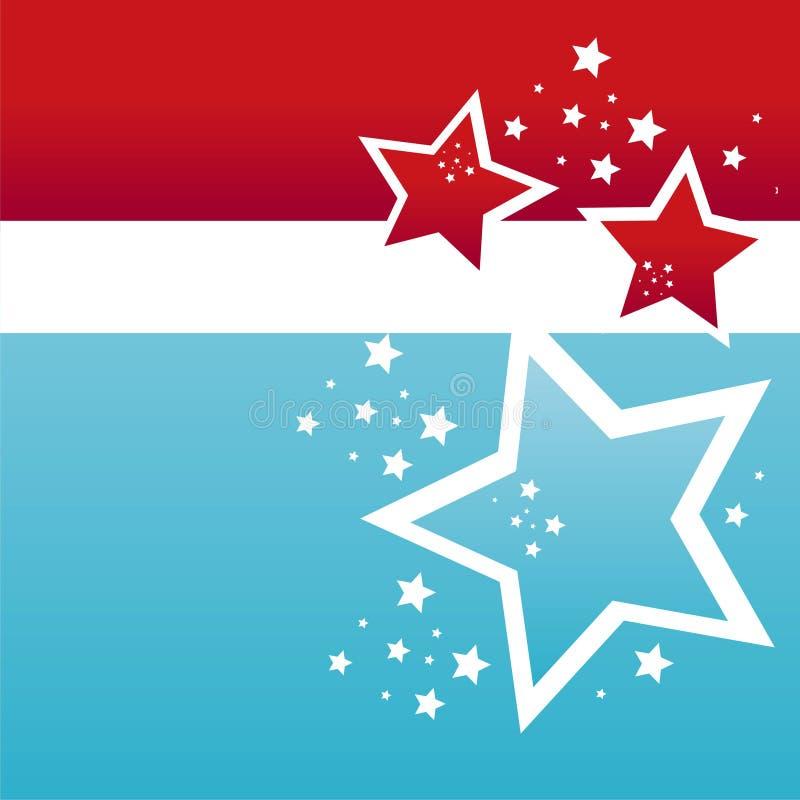 Fond coloré américain d'étoiles illustration de vecteur