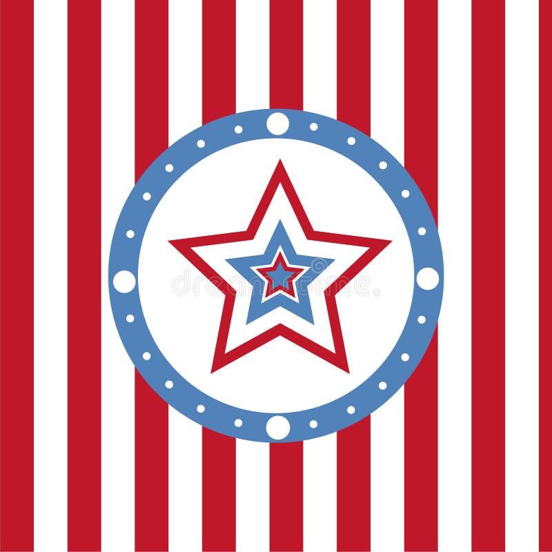 Fond coloré américain d'étoiles illustration libre de droits