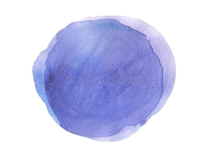 Fond coloré aquarelle d'abrégé sur de texture tirée par la main de tache d'isolement illustration de vecteur
