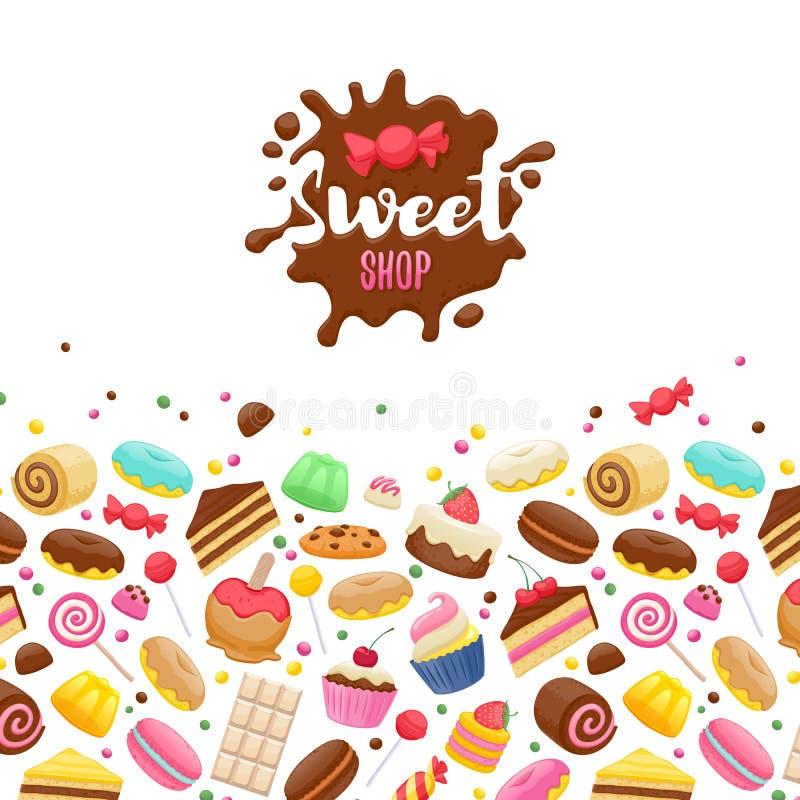 Fond coloré assorti de bonbons illustration libre de droits