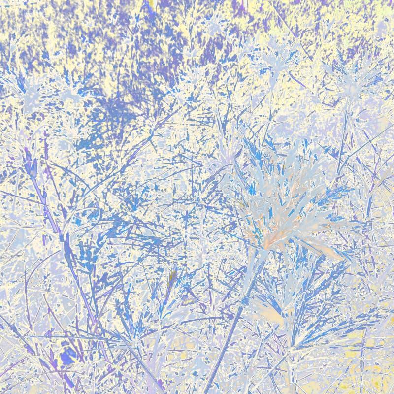 Fond coloré avec le modèle d'herbe et de feuille image stock