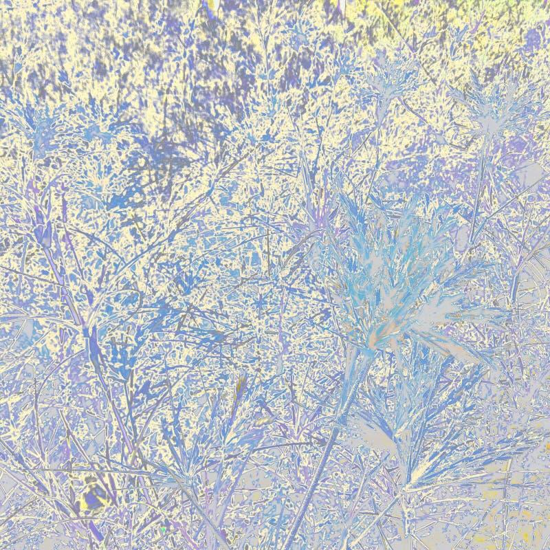 Fond coloré avec le modèle d'herbe et de feuille photographie stock libre de droits
